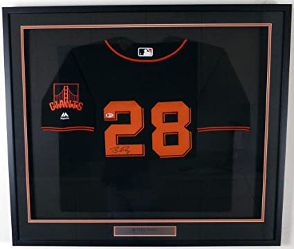 competitive price 094d2 ab2f1 SAN FRANCISCO GIANTS BUSTER POSEY AUTOGRAPHED FRAMED ...