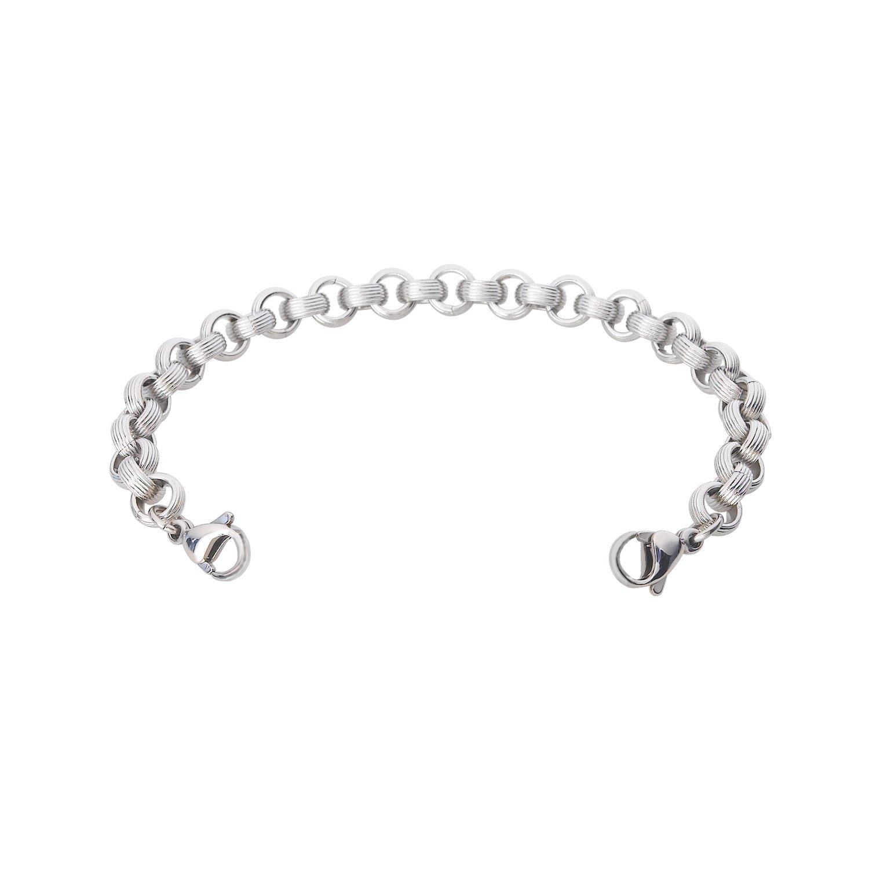 Divoti Ridged Rolo Medical Alert Replacement Bracelet for Women -6.0''