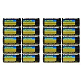 Panasonic CR123A Lithium 3V Photo Lithium Batteries, 0.67'' Dia x 1.36'' H (17.0 mm x 34.5 mm), black, Gold, Blue (Pack of 20)
