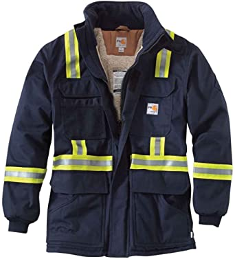137bf9eee9467 Carhartt Men s 100784 Flame-Resistant Extremes Arctic Coat - Sherpa Li -  2X-Large