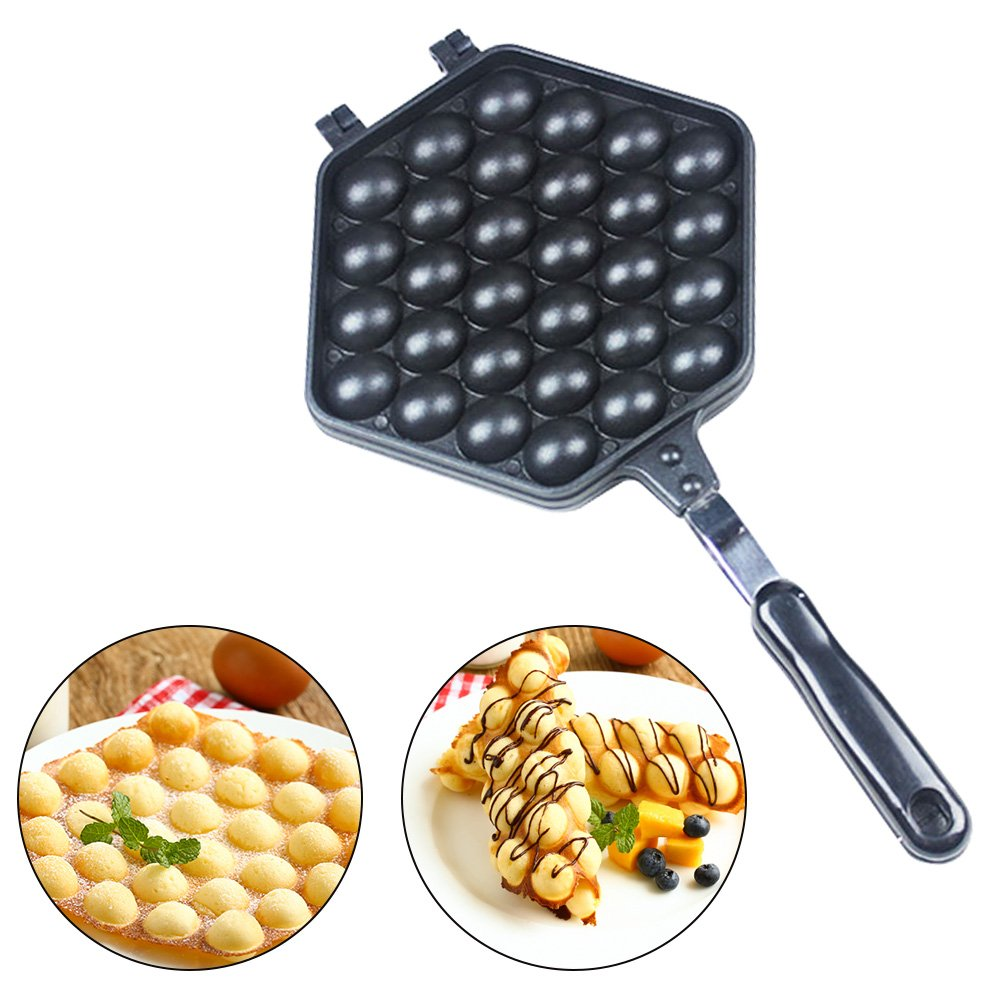 Puff Bubble QQ Egg Waffle Maker QQ Egg Waffle For Cooking Puff, Hong Kong Style, Egg, QQ, Muffin, Cake Eggettes cjc