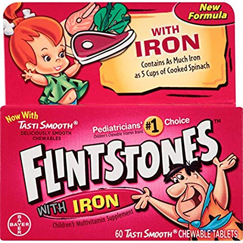 Flintstones Chewable Multivitamins with Iron, 60 Count (Limited Edition)