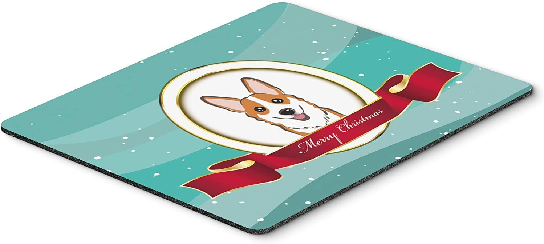 Caroline's Treasures BB1564MP Red Corgi Merry Christmas Mouse Pad, Hot Pad or Trivet, Large, Multicolor [並行輸入品]