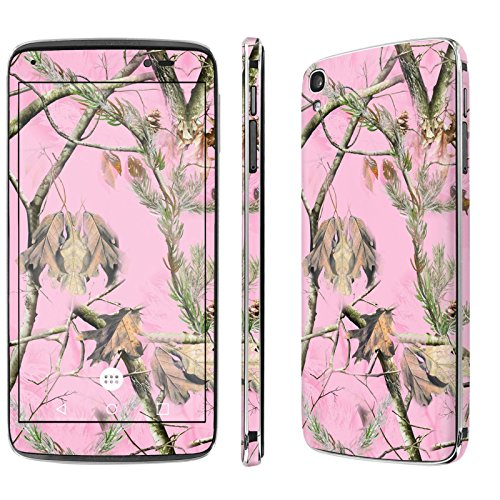 Alcatel [Idol 3] Skin [NakedShield] Scratch Guard Vinyl Skin Decal [Full Body Edge] [Matching WallPaper] - [Pink Hunter Camouflage] for Alcatel One Touch [Idol 3] [5.5 Screen]