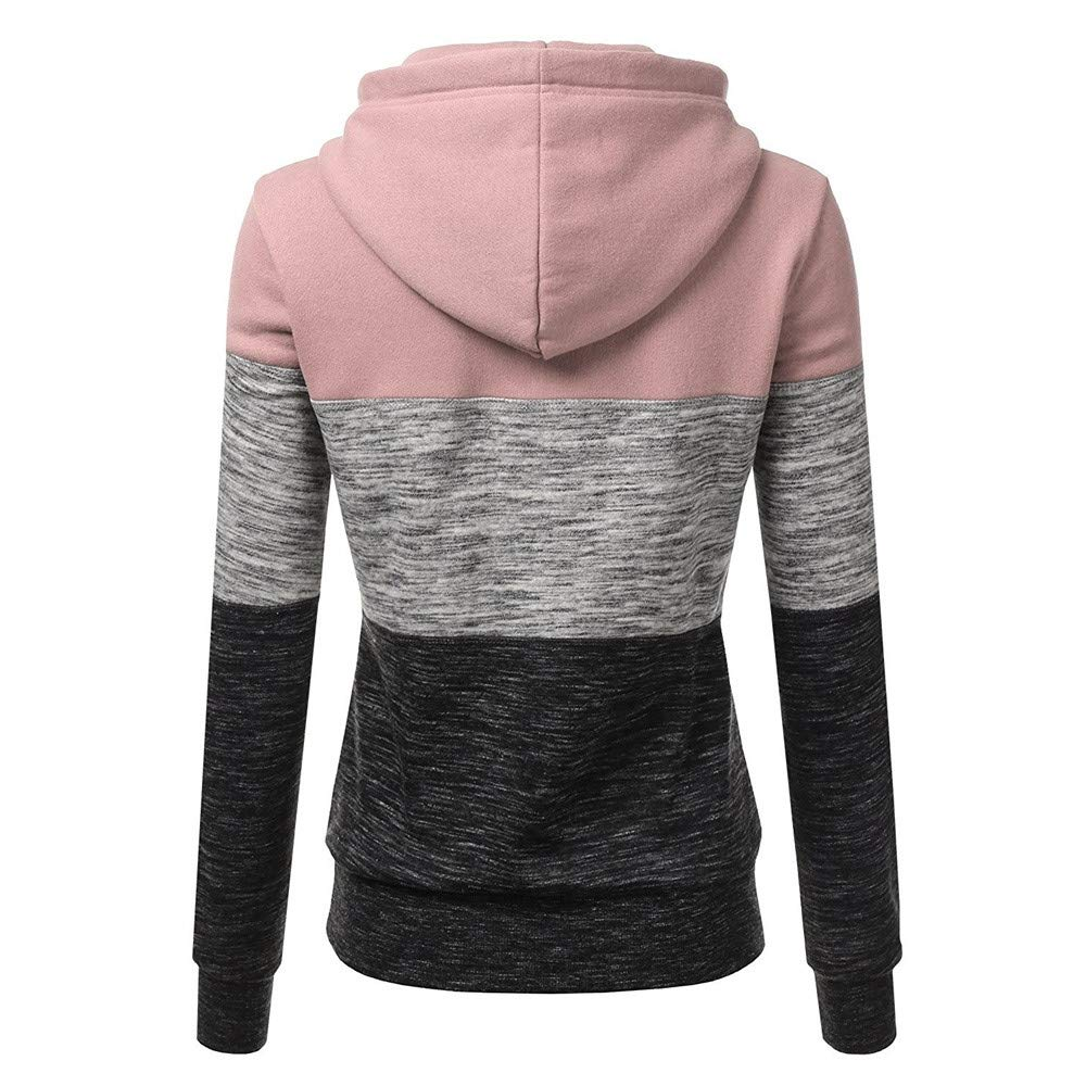 Sweatshirts Women Fashion Hooded Printed Long Sleeve Pullover Jumper Hoodie Tops Casual Patchwork Blouse for Women New