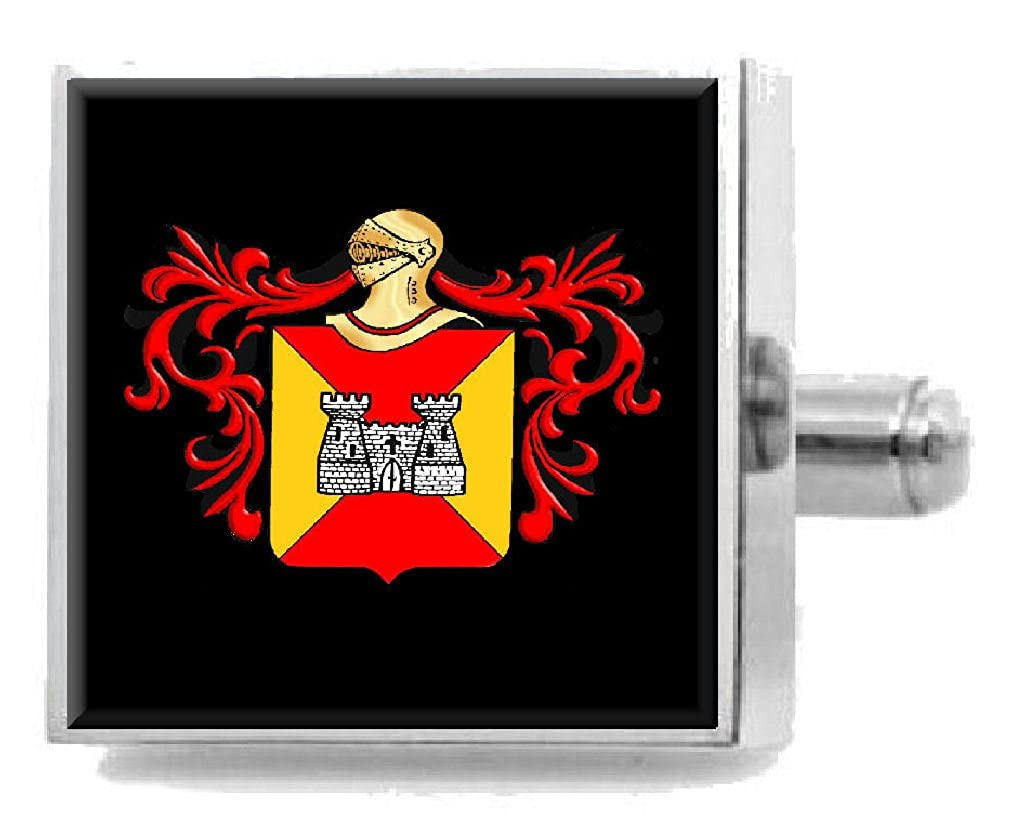 Select Gifts Clapp England Heraldry Crest Sterling Silver Cufflinks Engraved Message Box
