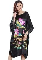 JTC Femmes Kimono Peignoir Pyjama Robe/Vêtement de Nuit/de Chambre Grande Fleur-Soie-4 Styles