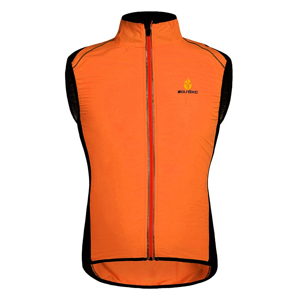 Hysenm Tour De France Polyester Windproof Breathable Reflective Cycling MTB Vest Sleeveless Rockbros