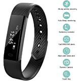 Fitness Tracker, bossblue Smart Fitness Watch Touch Screen Activity Health Tracker Wearable Pedometer Smart Wristband