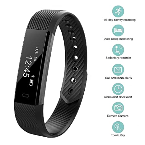 amazon com bossblue fitness tracker smart fitness watch touch