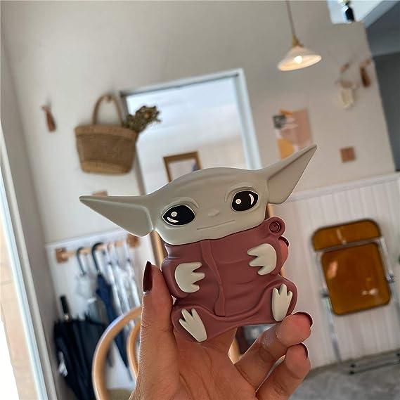 Amazon Com Airpods Case Mandalorian Yoda Baby Silicone Case For