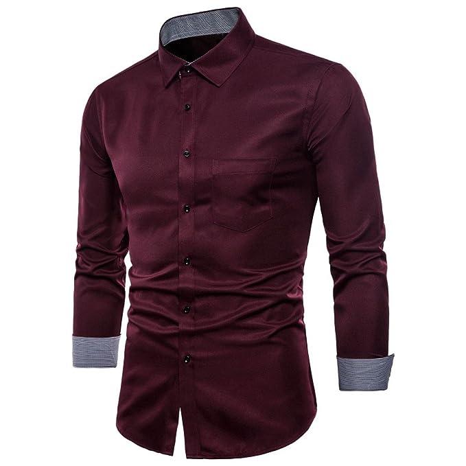 32f089ecaafb Camicia Uomo LandFox Slim Fit Mens Manica Lunga Oxford Formale Abiti Casual  Tee Camicie Camicetta Superiore Camicia Uomo Bianca Camicia Formale Uomo ...
