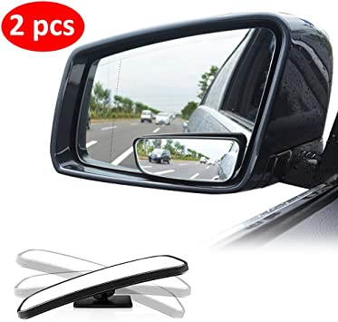 Car Rearview Blind Spot Side Rear Side View Mirror Clear Wide Angle Universal