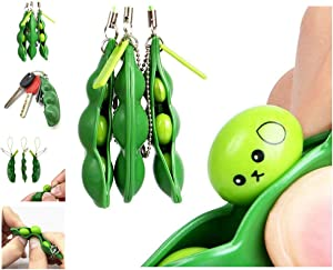 EFVH Squeeze Bean Keychain Accessory Decor,Fun Intresting Stress Relief Tool for Unisex Office Workers/Students,Unique Gift for Parents/Children/Friends/Teacher/Classmates—2021 New Fashion