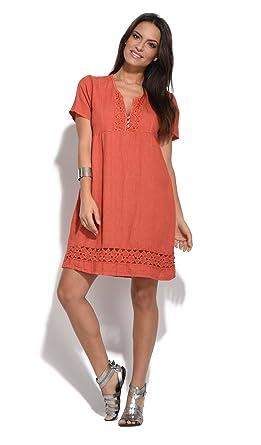 Couleur Lin Dress Juliette Rust Women Spring/Summer Collection at ...