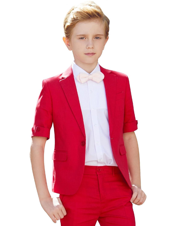 ELPA ELPA Boys Summer Suits Sets 4 Pieces Formal Short Sleeve Dress Wear