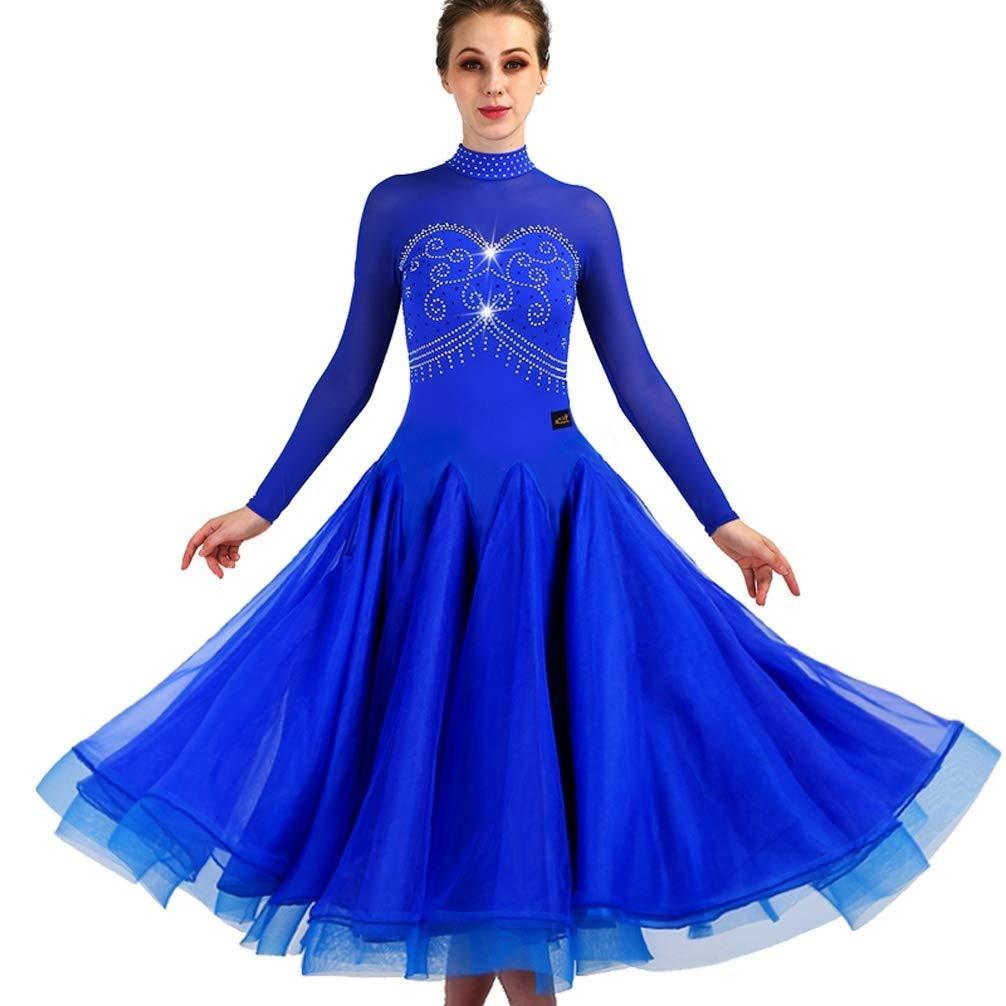 【ポイント10倍】 エレガントな社交ダンスのワルツビッグスイングドレスラインストーンハイカラーのセクシーなモダンダンスのパフォーマンスの服 B07QZRQT5G B07QZRQT5G XXL ブルー XXL ブルー ブルー XXL, ジーンズショップヤマト:4ce70503 --- a0267596.xsph.ru