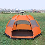 Cheap BOCI [New] automatic tent/multiplayer/double storey/3-5 people/hexagonal big tent/outdoor/camping/camping/rain/sun protection/ventilation (orage)