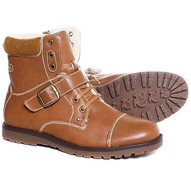 Kunstleder Boots 5m103 Stiefeletten Schnür Clowse Stiefel Schuhe Herren Halbstiefel K1JcFl