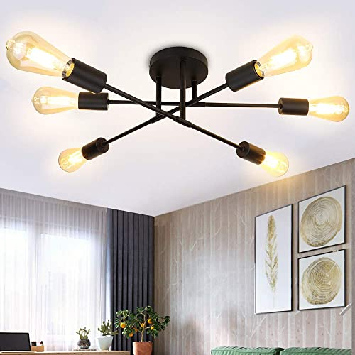 Depuley 6-Light Vintage Sputnik Chandelier