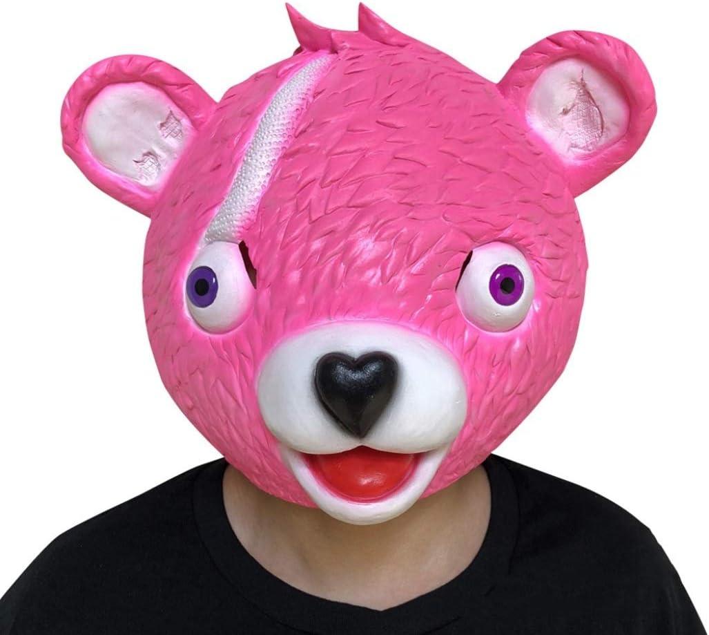 JiXUN - Máscara de látex para Disfraz de Oso Rosa, n/a, Rojo 1 ...