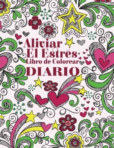 aliviar-el-estres-libro-de-colorear-diario-el-estrs-adulto-dibujos-para-colorear-spanish-edition