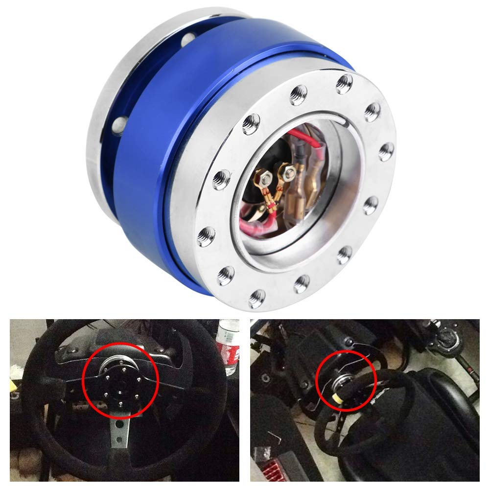 Cuque Quick Release Steering Wheel Hub Universal Car Steering Wheel Hub Adapter Kit for Auto Car