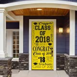 Victory Corps Collage Yellow - Outdoor GRADUATION Garage Door Banner Mural Sign Décor 36'' x 80'' One Size Fits All Front Door Car Garage -The Original Holiday Front Door Banner Decor