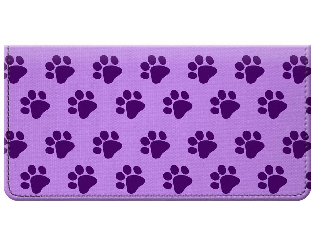 Snaptotes Purple Paw Print Design Checkbook Cover by Snaptotes