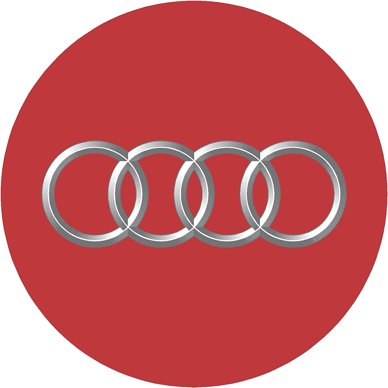 2.75 = 70mm Audi Red Replacement Decal Sticker 6 Piece Set eye2dye