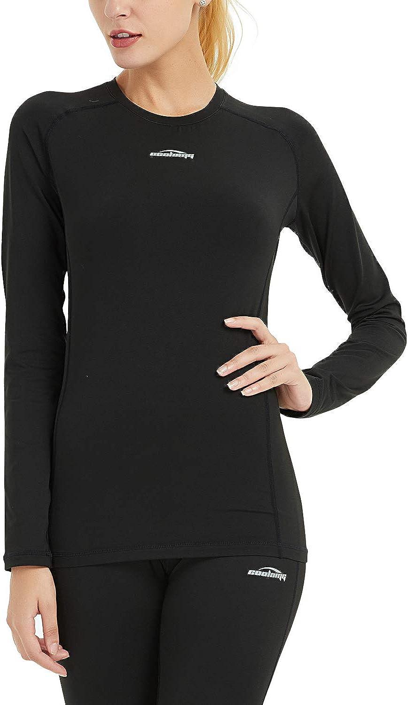 Legendfit Women's Thermal Shirts Fleece Lined Compression Baselayer Warm Long Sleeve Tops Underwear Winter Gear