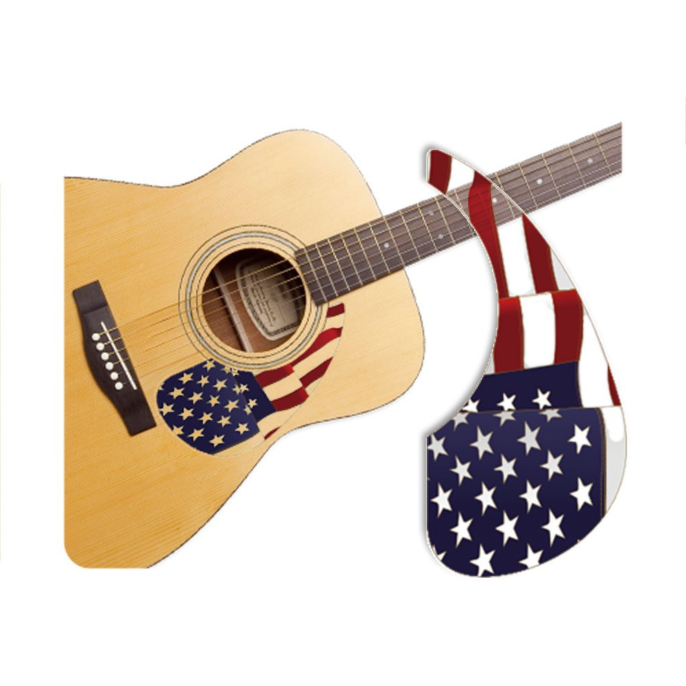 Healingshield Premium Acoustic Guitar Pickguard Basic Type Stars and Stripes Healing shield 10797436