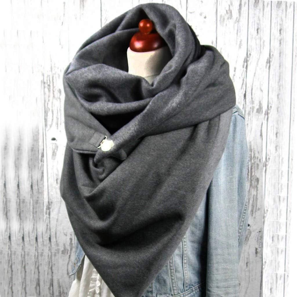 566 Sciarpa Calda Invernale Delle Donne Taglia Unica DOT Pulsante di Stampa Morbido Casual Sciarpe Calde Scialli Sciarpa Sciarpa Donna