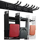 Garage Storage Organization System Wall Mount Rack Heavy Duty Tools Hanger with 6 Hooks 48inch Tracks Max Load 265lb
