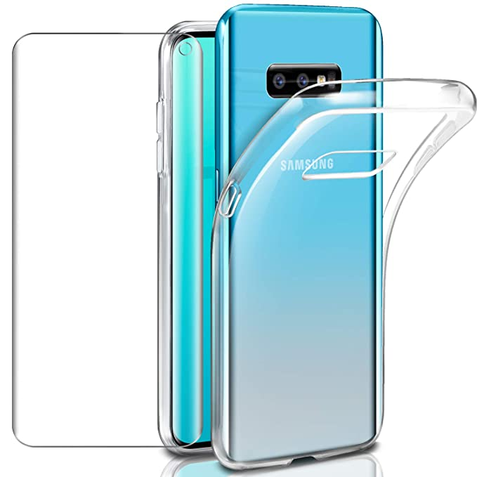 Cases, Covers & Skins Pack Funda Silicona Cell Phones & Accessories Cristal Templado Samsung Galaxy S10 Protector Carcasa Tpu