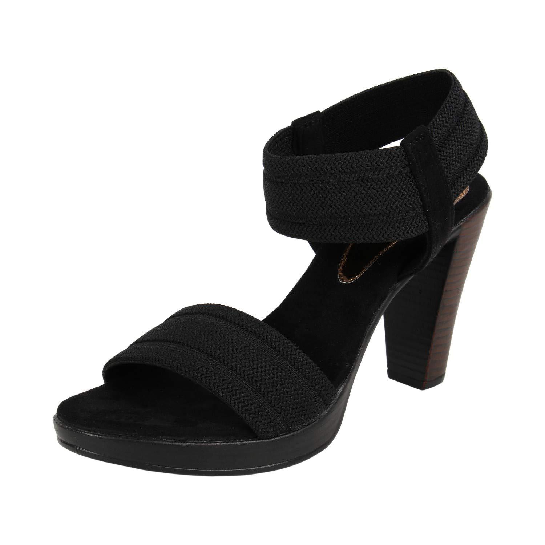 Black Block Heel Sandals Fashion