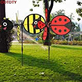 Best Garden Tools Bumble Bee/Ladybug Windmill Whirligig Wind Spinner Home Yard Garden Decor