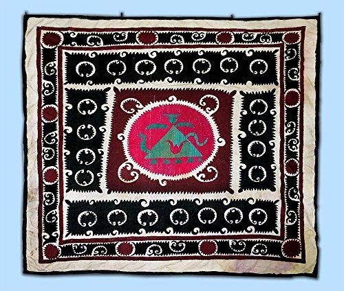old bold abstract uzbek handmade embroidery samarkand suzani bolinpush - Discover Method Payment