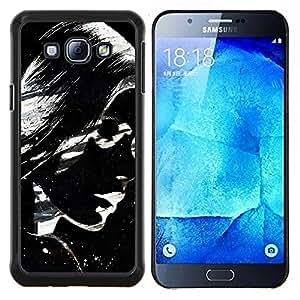 "Be-Star Único Patrón Plástico Duro Fundas Cover Cubre Hard Case Cover Para Samsung Galaxy A8 / SM-A800 ( Gafas de sol chica mujer Labios Pintura Arte"" )"