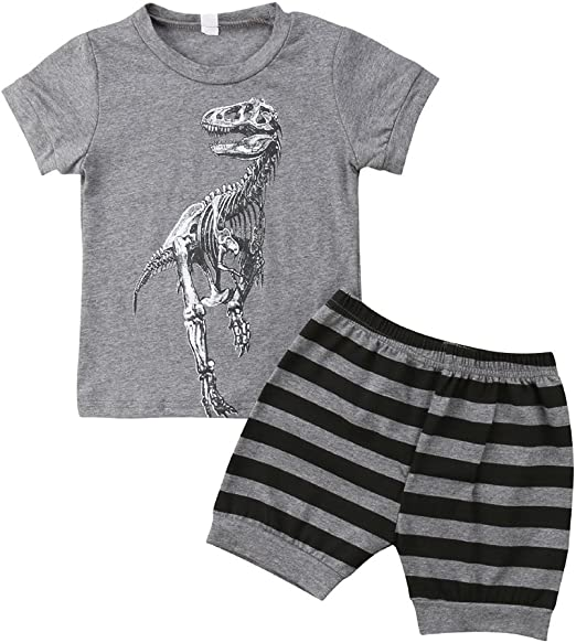 Norbi Toddler Handsome Baby Boy Short Sleeve 2-Piece Outfit Shorts Set