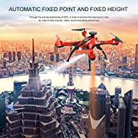 Leewa@ New FX176 2MP Wifi FPV 1080P Camera 2.4G 6-Axis LED Altitude Hold RC GPS Video UAV -Red
