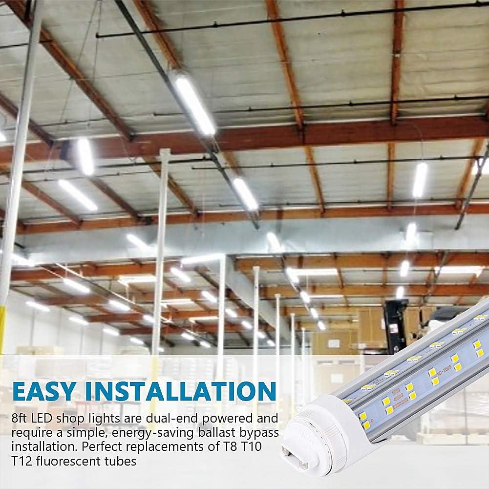 20x 8FT LED Light 6500K Daylight White Fluorescent Replacement Tube T8 T10 T12