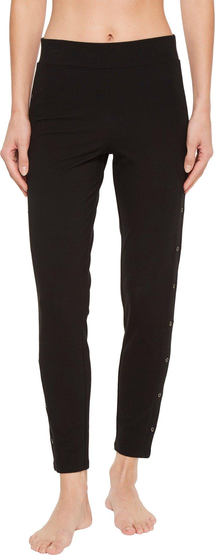 Yummie Women's Compact Cotton Ankle Legging With Grommets Sockshosiery, black, M