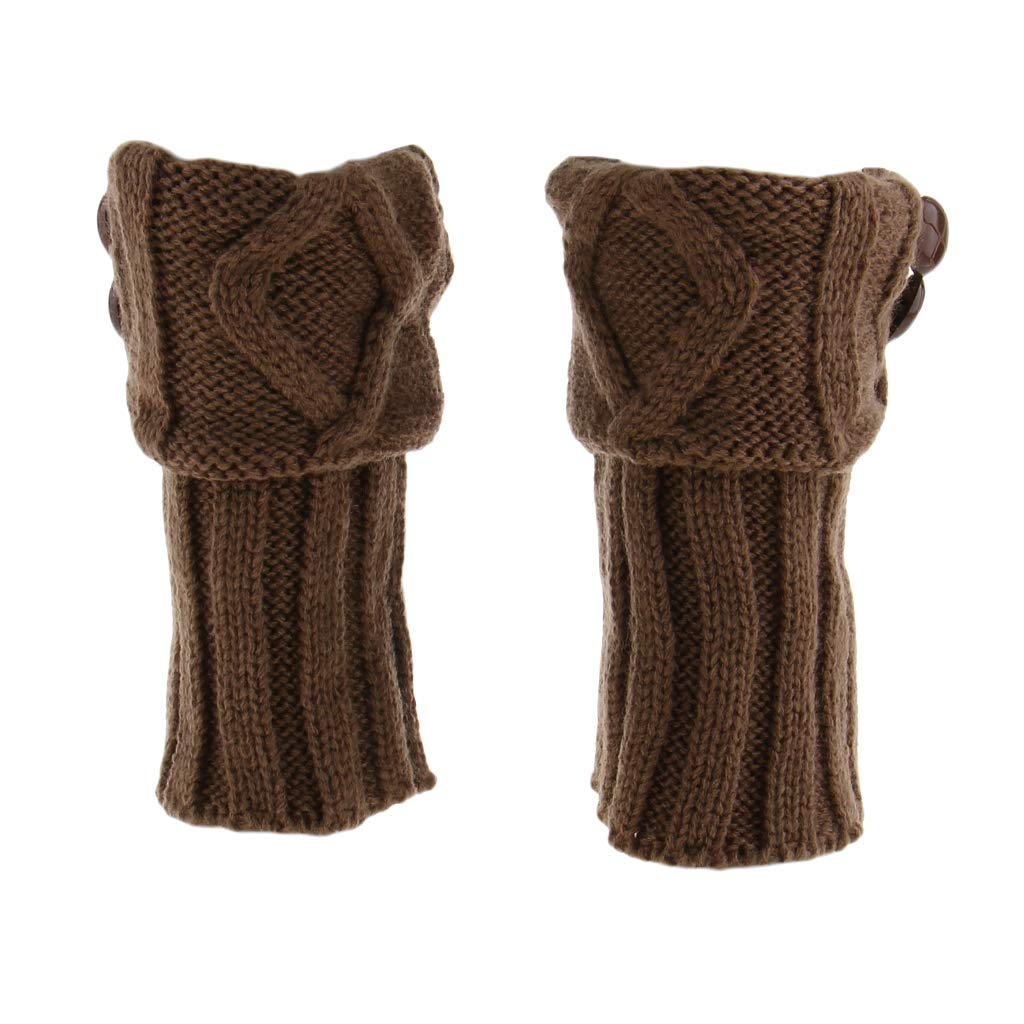 F Fityle 1 par de Botines Calzas Punto Ganchillo Mujer ...