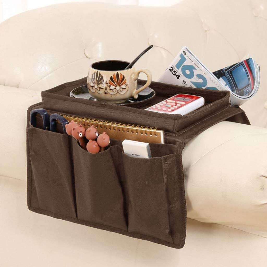Book LOVIVER Waterproof Couch Sofa Chair Armrest Organizer Tray /& Pockets Magazines as described Armchair Caddy For Smart Phone Remote Control Coffee