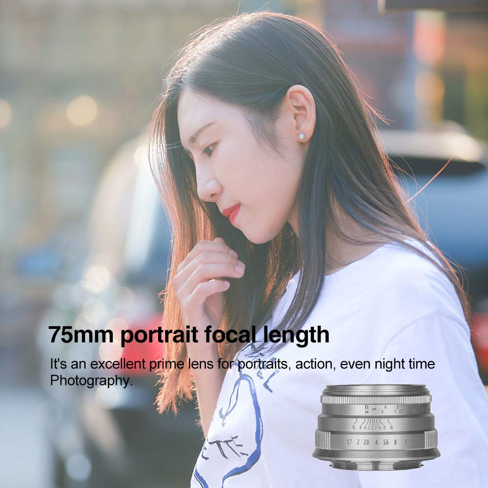 A7III FS5 FS7M2 A3000 FS5M2K A7 A7II A6500 A7R A7SII W//Lens Pouch Bag /& Focus Wrench A7RIII Brightin Star 35mm F1.7 APS-C Large Aperture Prime Lens Manual Cameras Lens for Sony E-Mount FS7