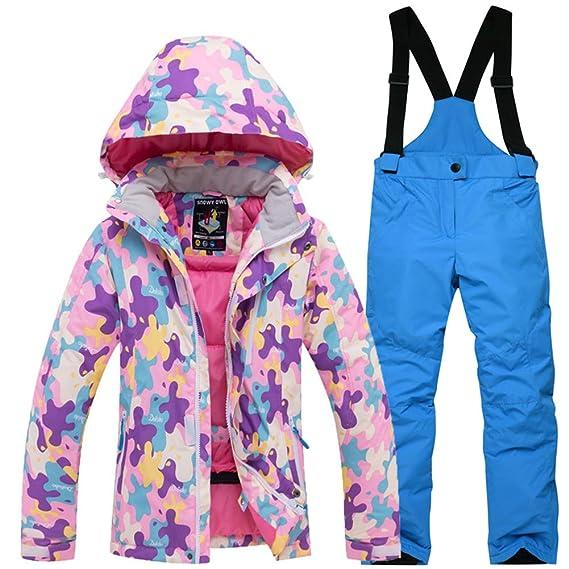 code promo a481b 3733f LSERVER Combinaison De Ski Enfant Ensemble de Sport Hiver ...