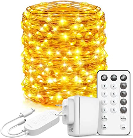 Amazon Com Govee Led Fairy Lights Bedroom 66 Feet Fairy Lights Plug In 200 Leds Remote Control Fairy Lights With 8 Scence Modes 4 Timing Options Usb Fairy Lights For Indoor Outdoor