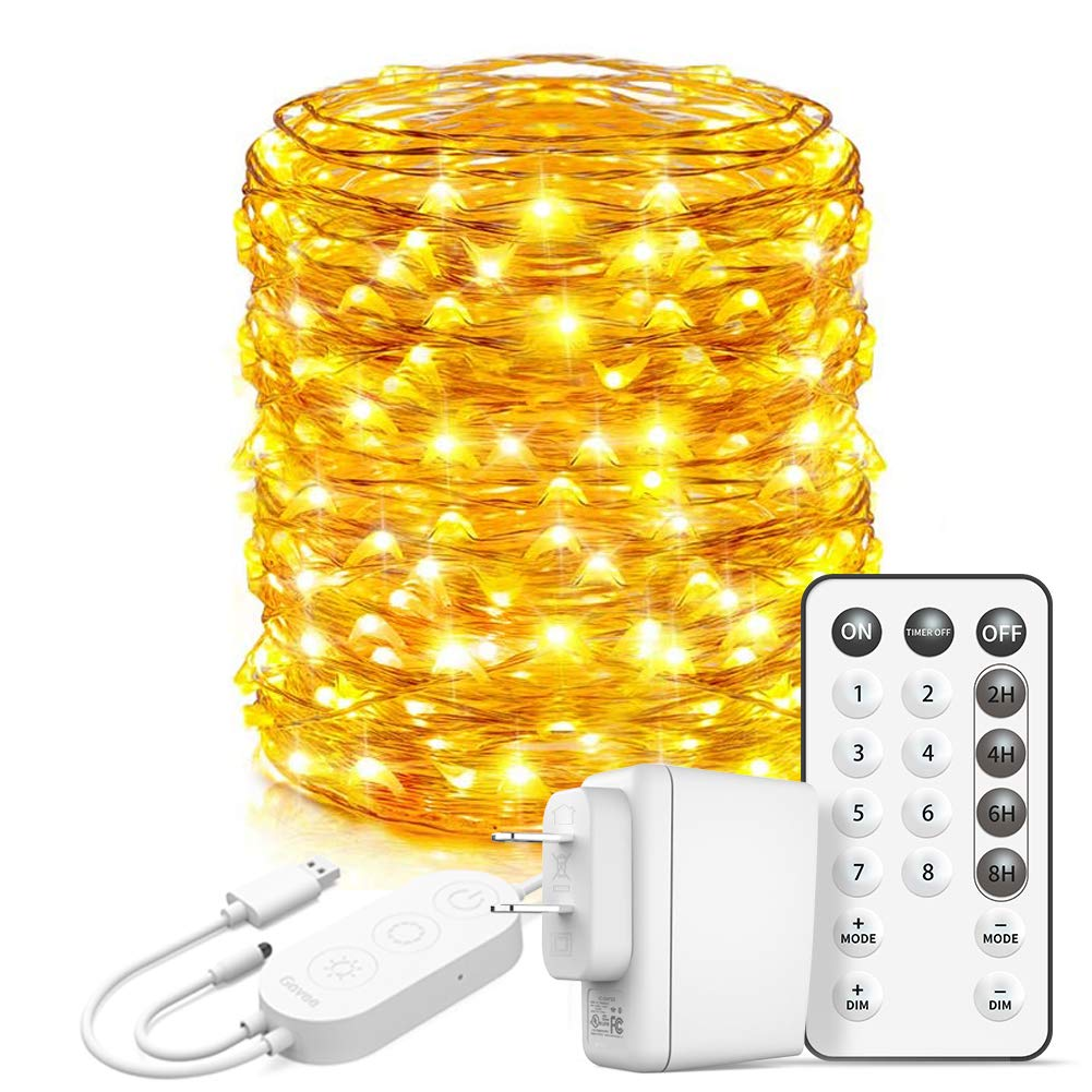 66Ft 200 LED Waterproof Twinkle Lights with 8 Lighting Modes Remote and Power Adaptor for Craft Bedroom Ceiling Wedding Christmas 13 Colors Minetom Color Changing Fairy String Lights
