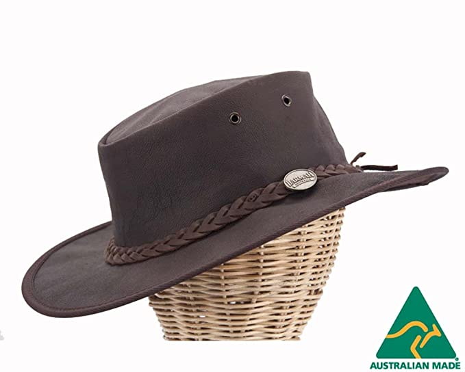 Barmah Real Australian Kangaroo Leather Hat. Original Hat-in-a-Bag ... 34a898e097bc